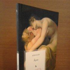 Libros: SÓFOCLES - ÁYAX - BIBLIOTECA BÁSICA GREDOS 2010 (1ª EDICIÓN). Lote 273628043