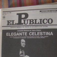 Libros: EL PÚBLICO. PERIODICO MENSUAL DE TEATRO. ABRIL 1988 / Nº 55. VV.AA. Lote 293816943