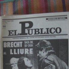 Libros: EL PÚBLICO. PERIODICO MENSUAL DE TEATRO. MAYO 1988 / Nº 56. VV.AA. Lote 293817238