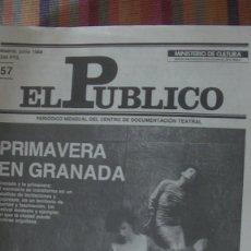 Libros: EL PÚBLICO. PERIODICO MENSUAL DE TEATRO. JUNIO 1988 / Nº 57. VV.AA. Lote 293817518