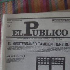 Libros: EL PÚBLICO. PERIODICO MENSUAL DE TEATRO. SEPTIEMBRE 1988 / Nº 60. VV.AA. Lote 293817723