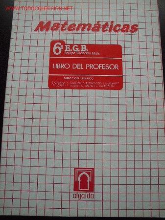 3 LIBROS - MATEMÁTICAS--LIBRO DEL PROFESOR-- 6º, 7º, 8º, DE E.G.B. ED ALGAIDA --1985 (Libros de Segunda Mano - Libros de Texto )