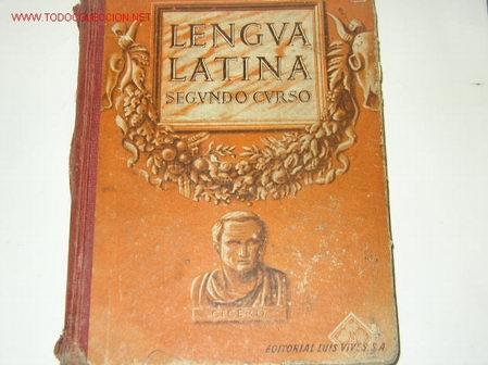 LENGUA LATINA. SEGUNDO CURSO EDITORIAL LUIS VIVES 1946 (Libros de Segunda Mano - Libros de Texto )