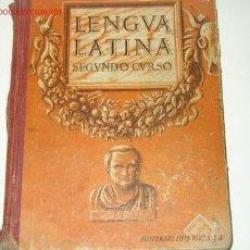 Libros de segunda mano: LENGUA LATINA. SEGUNDO CURSO EDITORIAL LUIS VIVES 1946. Lote 10523552