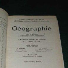 Libros de segunda mano: GEOGRAPHIE. L'EUROPE (MOINS LA FRANCE) ET L'ASIE RUSSE DE JEAN BRUNHES. Lote 4411506