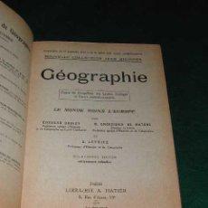 Libros de segunda mano: GEOGRAPHIE. LE MONDE MOINS L'EUROPE DE JEAN BRUNHES. Lote 3305796