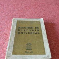 Libros de segunda mano: RESUMEN DE HISTORIA UNIVERSAL 1943 / C. PEREZ BUSTAMANTE. Lote 26302932