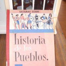 Libros de segunda mano: 1961 - LECTURAS SOBRE HISTORIA DE LOS PUEBLOS - J. COLL CARRERAS. Lote 20997551