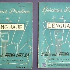 Libros de segunda mano: EJERCICIOS PRÁCTICOS DE LENGUAJE. CUADERNOS, 2 Y 4. EDITORIAL PRIMA LUCE. BARCELONA, 1959.. Lote 26739690