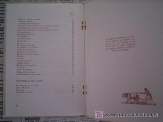 Libros de segunda mano: EL CAMPO - LIBRO ESCOLAR DE LECTURA PARA UN TERCER GRADO (1964) - Foto 4 - 12884315