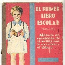 Libros de segunda mano: EL PRIMER LIBRO ESCOLAR. MÉTODO DE ENSEÑANZA DE LECTURA POR LA ESCRITURA Y EL DIBUJO -A. NAT ESCOLÁ-. Lote 26581819