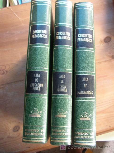 CONSULTOR PEDAGOGÍCO- FOMENTO DE BIBLIOTECAS-TRES TOMOS-Nº. 5, 6 Y 7-1981 (Libros de Segunda Mano - Libros de Texto )