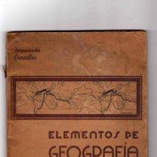 Libros de segunda mano: J. Y J. IZQUIERDO CROSELLES: ELEMENTOS DE GEOGRAFÍA FÍSICA. Lote 7290133