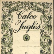Libros de segunda mano: CALCO INGLÉS.Nº 4. SALVATELLA.CONTRAPORTADA BATLLORI JOFRÉ.. Lote 26155504