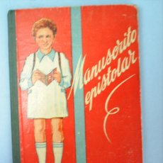 Libros de segunda mano: LIBRO ESCOLAR MANUSCRITO EPISTOLAR 1960. Lote 25853066