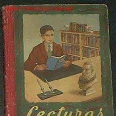 Libros de segunda mano: LECTURAS GRADUADAS,LIBRO TERCERO POR EDELVIVES,AÑO 1957,EL LIBRO MIDE 20CM X 15CM Y 264 PAGINA. Lote 119067091