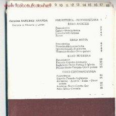 Libros de segunda mano: RESUMEN DE HISTORIA UNIVERSAL (18 FICHAS) -FERMINA SÁNCHEZ ARANDA- (AÑO 1974). ENVÍO: 2,50 € *.. Lote 26176990