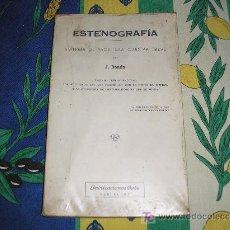 Libros de segunda mano: ESTENOGRAFÍA. SISTEMA DE ESCRITURA CURSIVA BREVE.J. BOADA. ED. COTS.. Lote 9830945