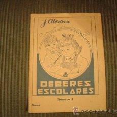 Libros de segunda mano: CUADERNO DE ESCUELA J. ALVAREZ DEBERES ESCOLARES Nº3. Lote 16552952