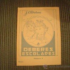 Libros de segunda mano: CUADERNO DE ESCUELA J. ALVAREZ DEBERES ESCOLARES Nº4. Lote 13308921
