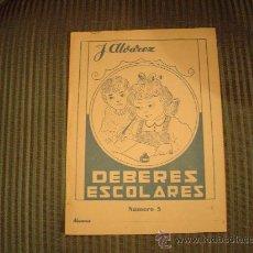 Libros de segunda mano: CUADERNO DE ESCUELA J. ALVAREZ DEBERES ESCOLARES Nº5. Lote 16552949