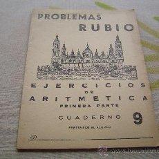 Livres d'occasion: CUADERNO ESCUELA PROBLEMAS RUBIO. Lote 10369369