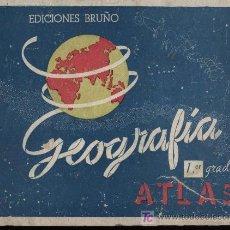 Libros de segunda mano - Geografía 1er grado. Atlas. Ediciones Bruño 1946 - 18149243