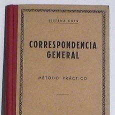 Libros de segunda mano: LLTX083.- CORRESPONDENCIA GENERAL. SISTEMA COTS. Lote 24249711