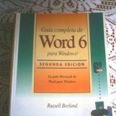 Libros de segunda mano: GUIA COMPLETA DE WORD 6. Lote 27323346