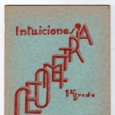 Libros de segunda mano - INTUICIONES PRIMER GRADO DE GEOMETRIA POR F. BULLON RAMIREZ. IMPRENTA MINERVA 1ª ED. SALAMANCA 1937 - 15163879