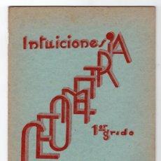 Libros de segunda mano: INTUICIONES PRIMER GRADO DE GEOMETRIA POR F. BULLON RAMIREZ. IMPRENTA MINERVA 1ª ED. SALAMANCA 1937. Lote 15163895