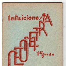 Libros de segunda mano - INTUICIONES PRIMER GRADO DE GEOMETRIA POR F. BULLON RAMIREZ. IMPRENTA MINERVA 1ª ED. SALAMANCA 1937 - 15163898