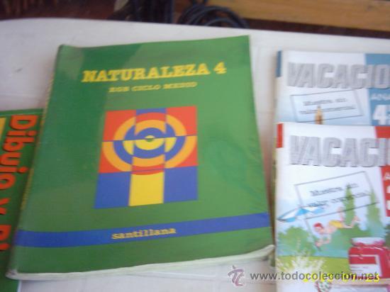 NATURALEZA 4 EGB CICLO MEDIO SANTILLANA (Libros de Segunda Mano - Libros de Texto )