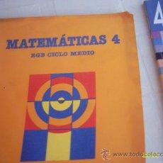 Libros de segunda mano: MATEMÁTICAS 4 SANTILLANA. Lote 18120747