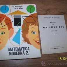 Livres d'occasion: MATEMÁTICA MODERNA, 2º.- CONSTANTINO MARCO Y JACINTO MARTÍNEZ, S. M. .- EDC: S. M.- 1970. Lote 15445680