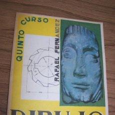 Libri di seconda mano: DIBUJO- ARTISTÍCO, TÉCNICO, CIENTÍFICO.- QUINTO CURSO DE BACHILLERATO-RAFAEL FERNÁNDEZ MARTÍNEZ-1972. Lote 15450521