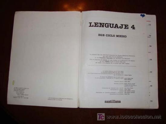 Libros de segunda mano: LENGUAJE 4º EGB EDITORIAL SANTILLANA CUARTO EDUCACION GENERAL BASICA EDICION 1982 - Foto 4 - 29075925