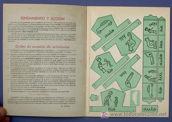 Libros de segunda mano: JUGUETES Y PALABRAS. 1ª PARTE. CARTILLA RECORTABLE. JUAN JOSE ORTEGA UCEDO. EDIT. RUIZ ROMERO, S/F. - Foto 2 - 21991650