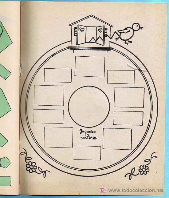 Libros de segunda mano: JUGUETES Y PALABRAS. 1ª PARTE. CARTILLA RECORTABLE. JUAN JOSE ORTEGA UCEDO. EDIT. RUIZ ROMERO, S/F. - Foto 4 - 21991650