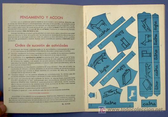 Libros de segunda mano: JUGUETES Y PALABRAS. 3ª PARTE. CARTILLA RECORTABLE. JUAN JOSE ORTEGA UCEDO. EDIT. RUIZ ROMERO, S/F. - Foto 2 - 22038049