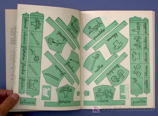 Libros de segunda mano: JUGUETES Y PALABRAS. 3ª PARTE. CARTILLA RECORTABLE. JUAN JOSE ORTEGA UCEDO. EDIT. RUIZ ROMERO, S/F. - Foto 3 - 22038049