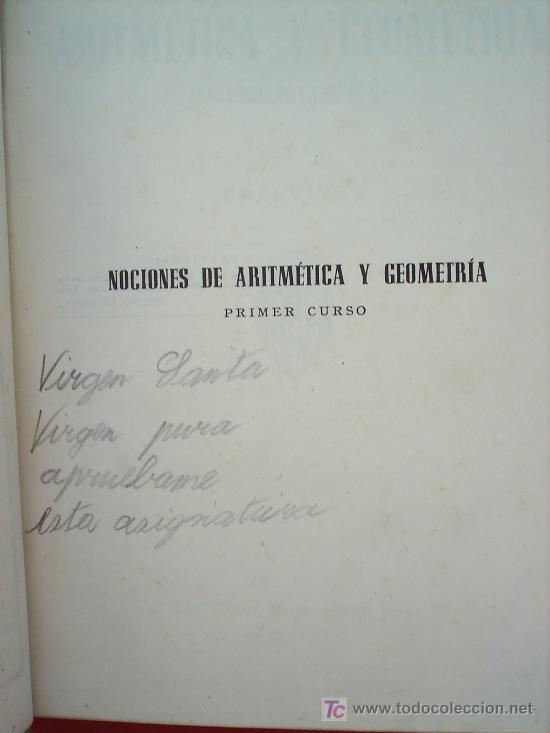 Libros de segunda mano: LIBRO ESCOLAR , MATEMATICAS .primer curso, 1954 , editorial luis vives - Foto 3 - 18482613