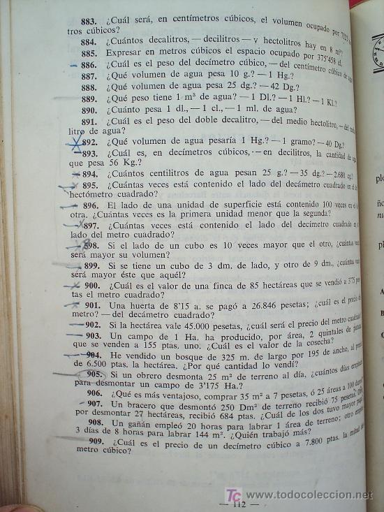 Libros de segunda mano: LIBRO ESCOLAR , MATEMATICAS .primer curso, 1954 , editorial luis vives - Foto 5 - 18482613