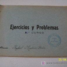 Libros de segunda mano: EJERCICIOS Y PROBLEMAS´- S/F.. Lote 18634679