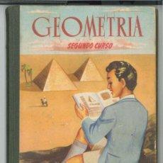 Libros de segunda mano: GEOMETRÍA.CON NOCIONES DE DIBUJO LINEAL Y DE AGRIMENSURA.2ºCURSO-AÑO 1953.MATEMÁTICAS.ENVÍO:2,50 € *. Lote 26926548