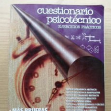 Libros de segunda mano: CUESTIONARIO PSICOTECNICO - TESTS - EJERCICIOS PRACTICOS - EDITORIAL MAD. Lote 26975812