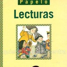 Libros de segunda mano: LIBRO DE TEXTO LECTURAS DE SM. 2º DE PRIMARIA. PAPELO 1999. NUEVO. Lote 110404074