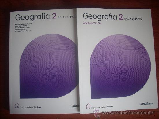 GEOGRAFÍA 2º BACHILLERATO - SANTILLANA - PROYECTO (Libros de Segunda Mano - Libros de Texto )