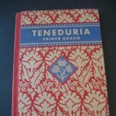 Libros de segunda mano: LIBRO ESCOLAR. TENEDURIA 1º. LUIS VIVES 1939 . Lote 19927527