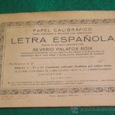 Libros de segunda mano: **CUADERNILLO DE PAPEL CALIGRAFICO PARA APRENDER A ESCRIBIR CON PERFECCION** (AÑOS 60). Lote 26014228